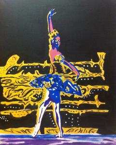 Dancer, acrylics on canvas