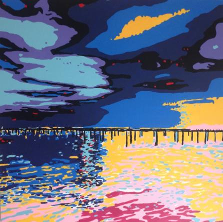 Hope (Horizon), acrylics on canvas