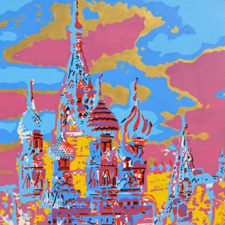 Saint Basile of Moscow, acrylics on canvas