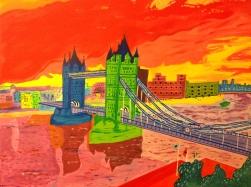 London Bridge, acrylics on canvas
