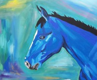 The horse's dream, acrylics on canvas