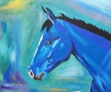 The horse's dream, acrylics on canvas