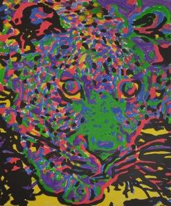 Spirit Leopard, acrylics on canvas