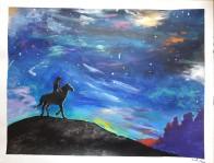 Long Nights, 2019, acrylics on paper, 25 x 20 cm, circa 65 x 50 inches