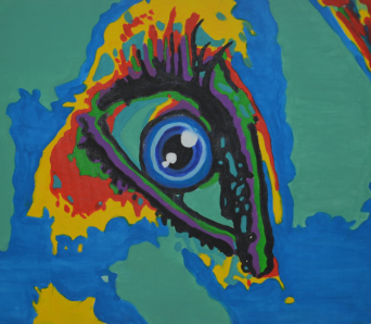 I see everything, acrylics on canvas