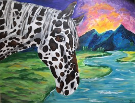 Tale of the Appaloosa, 2019, acrylics on paper, 25 x 20 cm, circa 65 x 50 inches