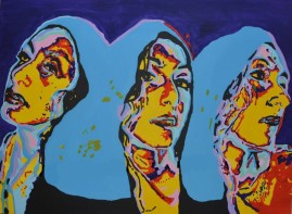 Dakini, acrylics on canvas