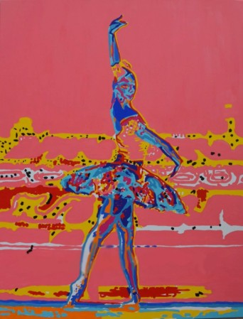 Dancer II, acrylics on canvas