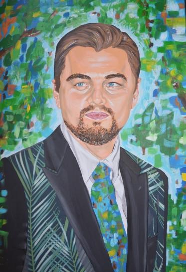 Leonardo DiCaprio painting portrait fan art fanart actor ecology