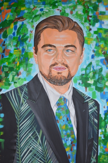 portrait fanart fan art Leonardo DiCaprio painting Sarah Anthony actor cinema environment earth activist environmentalist
