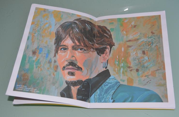 My portrait of Johnny Depp in Average Art #40, november 2019. Average Art is a British art magazine.
