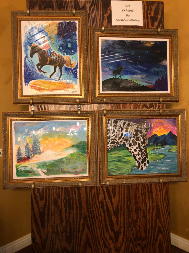 setup americana exhibition expo sarah anthony art tennessee hohenwald lewis and clarke's restaurant