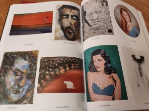 The art fair catalogue with my portrait of Dita von Teese