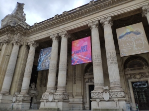 The front of the Grand Palais with the ArtCapital banner between Le Greco's and Toulouse-Lautrec's ones.