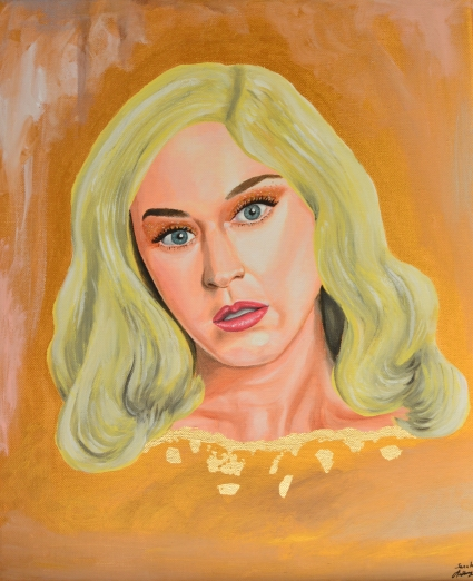 Katy Perry portrait star painting singer music california sarah anthony art artist french