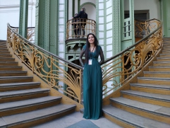 Posing in stairs of the Grand Palais