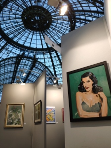 My Dita von Teese portrait under the glass dome