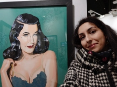 My Dita von Teese portrait at night