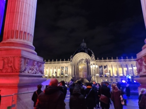 In front of the Petit Palais