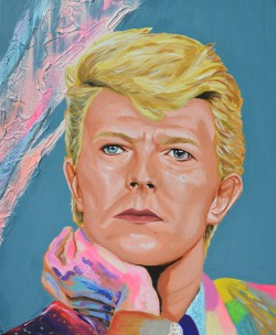 David bowie singer painting Sarah Anthony peinture art fan art portrait paintings
